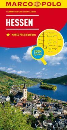 MARCO POLO Karte Hessen; Hesse