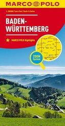 MARCO POLO Karte Baden-Württemberg; Bade-Wurtemberg