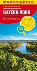 MARCO POLO Karte Bayern Nord; North Bavaria / Nord Bavière