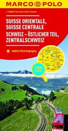 MARCO POLO Karte Schweiz Östlicher Teil, Zentralschweiz; Suisse orientale, Susisse centrale / Svizzera orientale, Svizze