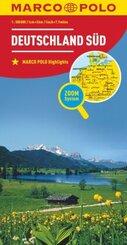 MARCO POLO Länderkarte Deutschland Süd / Southern Germany / Allemagne du Sud