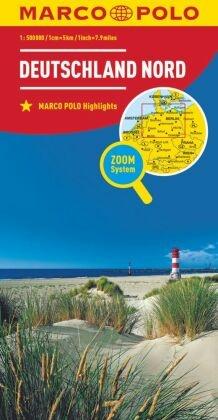 MARCO POLO Länderkarte Deutschland Nord / Northern Germany / Allemagne du Nord