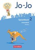 Jo-Jo Sprachbuch, Allgemeine Ausgabe 2016: 2. Schuljahr, Arbeitsheft Fördern und Inklusion