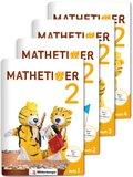 Mathetiger, Neubearbeitung 2016: 2. Schuljahr, Jahreszeiten-Hefte, 4 Hefte m. CD-ROM; Bd.2