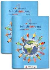 ABC der Tiere, Neubearbeitung 2016: 1. Schuljahr, Schreiblehrgang Druckschrift, Teil A und B, 2 Hefte
