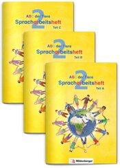 ABC der Tiere, Neubearbeitung 2016: 2. Schuljahr, Spracharbeitshefte (Teil A, B, C), 3 Hefte m. CD-ROM