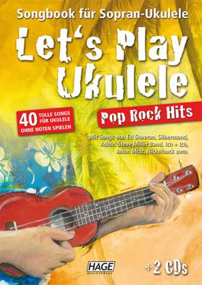 Let's Play Ukulele Pop Rock Hits, m. 2 Audio-CDs