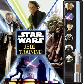 Star Wars Jedi-Trainig, m. Soundeffekten u. Lichtschwert