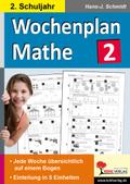 Wochenplan Mathe, Klasse 2