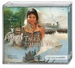 In 80 Tagen um die Welt, 4 Audio-CDs