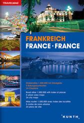 Reiseatlas Frankreich; France