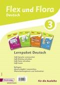 Flex und Flora - Deutsch: Lernpaket Deutsch 3 (Für die Ausleihe), 4 Hefte