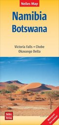 Nelles Map Landkarte Namibia - Botswana