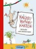 Krickel-Krakel-Karten 30 Grüße zum Weitermalen