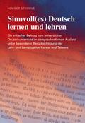 Sinnvoll(es) Deutsch lernen und lehren