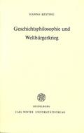 Geschichtsphilosophie und Weltbürgerkrieg