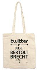 Twitter is not Brecht, Stofftasche