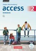 English G Access, Ausgabe Baden-Württemberg: 6. Schuljahr, Workbook mit Audios online; Bd.2