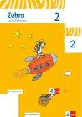 Zebra, Ausgabe ab 2011: 2. Schuljahr, Arbeitsheft Sprache, Arbeitsheft Lesen/Schreiben (Für die Ausleihe), 2 Hefte