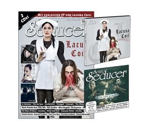 """Sonic Seducer: Titelstory """"Lacuna Coil"""", m. 2 Audio-CD; Ausg.2016/05"""