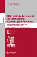 HCI in Business, Government and Organizations: eCommerce and Innovation
