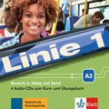 Linie 1: 4 Audio-CDs zum Kurs- und Übungsbuch A2