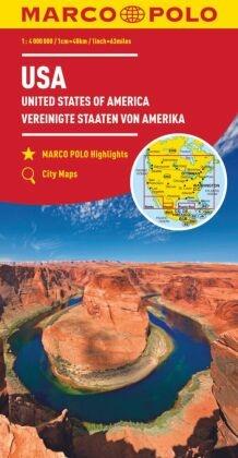 MARCO POLO Kontinentalkarte USA 1:4 000 000