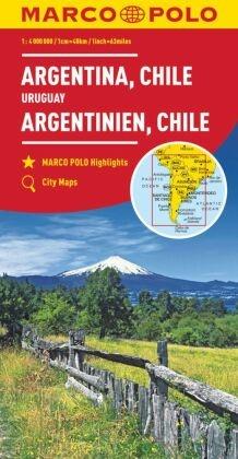 MARCO POLO Kontinentalkarte Argentinien, Chile 1:4 000 000