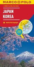 MARCO POLO Kontinentalkarte Japan, Korea 1:2.000.000