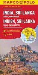 MARCO POLO Kontinentalkarte Indien, Sri Lanka 1:2 500 000 - India Sri, Lanka