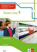 Green Line, Ausgabe Bayern ab 2017: 5. Schuljahr, Workbook mit 2 Audio-CDs; .1