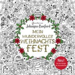 Mein wundervolles Weihnachtsfest - Besinnlich ausmalen Malbuch für Erwachsene