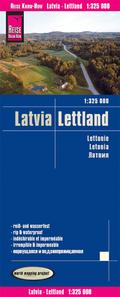 Reise Know-How Landkarte Lettland (1:325.000); Latvia / Lettonie / Letonia