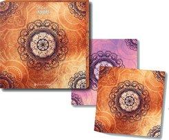 Der Zauber Indiens - Untersetzer orange, 2er-Set