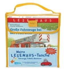 Meine Lesemaus-Tasche - Fahrzeuge, Fußball, Abenteuer (4 Bücher + Tasche)