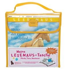 Meine Lesemaus-Tasche - Pferde, Tiere, Abenteuer (4 Bücher + Tasche)