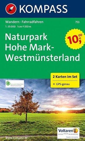 Kompass Karte Naturpark Hohe Mark - Westmünsterland, 2 Bl.