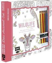 Inspiration Wildlife - 50 inspirierende Motive aus dem Tierreich kolorien, m. 8 Faber-Castell-Buntstiften