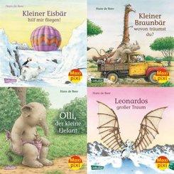 Tiergeschichten von Hans de Beer, 4 Hefte