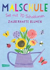 Malschule: Set mit 70 Schablonen: Zauberhafte Blumen