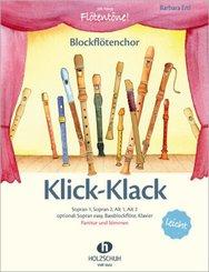 Klick-Klack; Bockflötenchor, Partitur und Stimmen