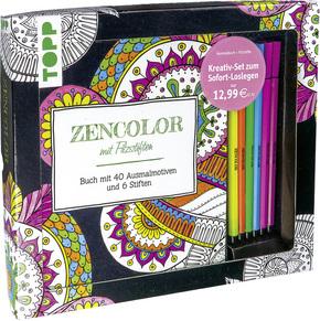 Kreativ-Set Zencolor, m. 6 Filzstiften
