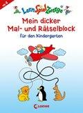 Mein dicker Mal- und Rätselblock für den Kindergarten
