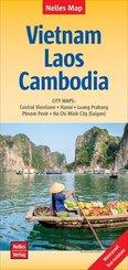 Nelles Map Landkarte Vietnam - Laos - Cambodia