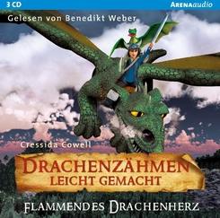 Drachenzähmen leicht gemacht - Flammendes Drachenherz, 3 Audio-CDs