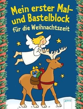 Mein erster Mal- und Bastelblock für die Weihnachtszeit