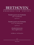 "Sonata quasi una Fantasia für Klavier Es-Dur, cis-Moll op. 27, 1+2 ""Mondscheinsonate"""