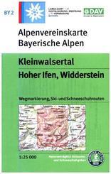 Alpenvereinskarte Kleinwalsertal, Hoher Ifen, Widderstein,