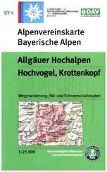 Alpenvereinskarte Allgäuer Hochalpen, Hochvogel, Krottenkopf,