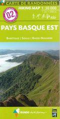 Carte de randonnées Pyrénées - Pays Basque Est - Barétous - Soule - Basse Navarre